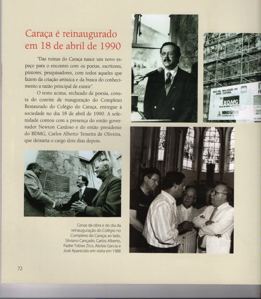 Destaque do livro sobre os 30 anos do BDMG Cultural