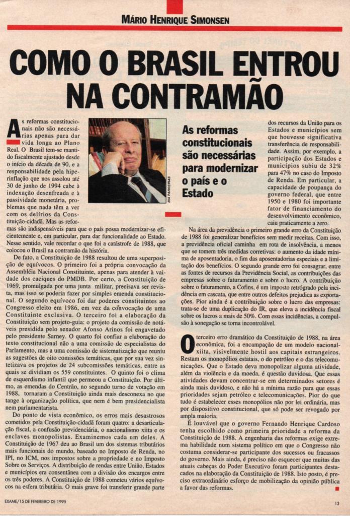 Como o brasil encontrou a contramão