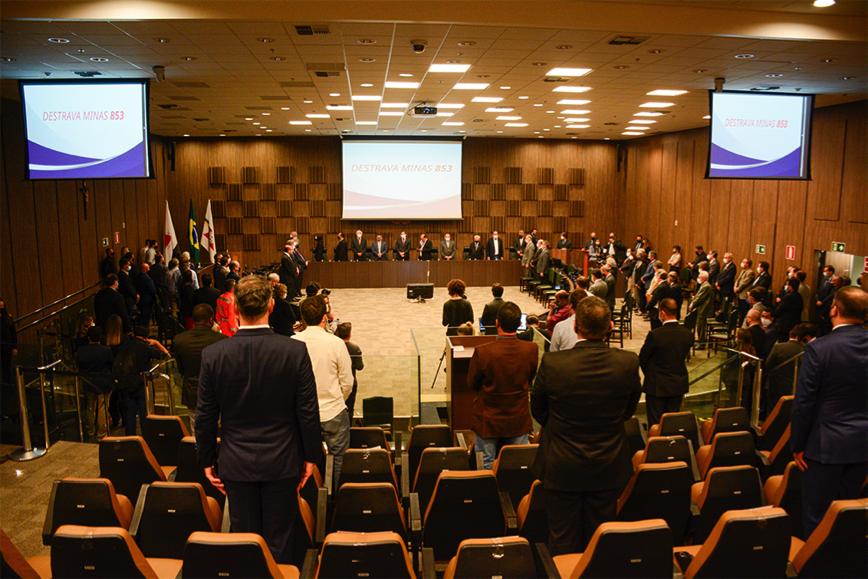 Cerimônia de lançamento do projeto reuniu autoridades de diversos órgãos públicos e instituições Crédito Riva Moreira TJMG