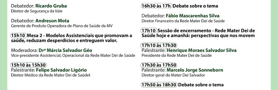 11º - Seminário de Gestão em Saúde da Rede Mater Dei