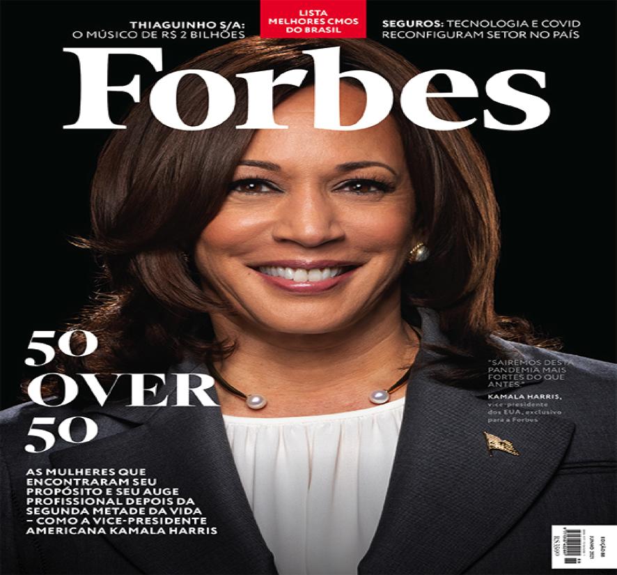 Kamala Harris é capa da Forbes Brasil que lança nova edição