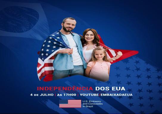 Let's celebrate! Embaixada e Consulados convidam brasileiros para comemoração da Independência dos EUA