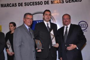 Livraria Leitura - Roberto Fagundes, Marcus Teles – presidente da Leitura e Carlos Alberto Teixeira
