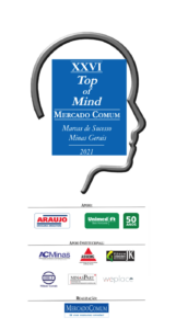 TOP OF MIND – 2021 - MARCAS DE SUCESSO MercadoComum – Minas Gerais – Vencedores do 26º Prêmio 04