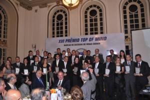 TOP OF MIND – 2021 - MARCAS DE SUCESSO MercadoComum – Minas Gerais – Vencedores do 26º Prêmio 07