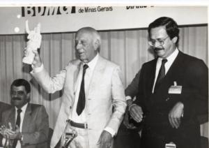 Deusdedith Aquino, Dr. Ulysses Guimarães e Carlos Alberto Teixeira de Oliveira, 1989