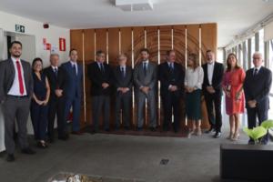 Ex-presidentes do BDMG com a diretoria executiva da instituição