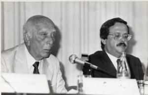 Ulysses Guimarães e Carlos Alberto Teixeira de Oliveira, em 1989